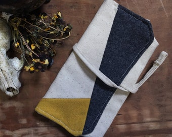 Field Kit Pencil Pouch | Pencil Case | Canvas and Wool | Tool roll | Clutch | Wallet