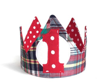 Boy first birthday crown Boy First Birthday Crown First Birthday Crown First Birthday Hat photo prop cake smash outfit handmade gift