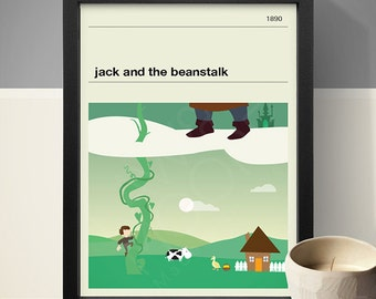 Jack and the Beanstalk Poster - Fairy Tale Poster, Fairy Tale Print