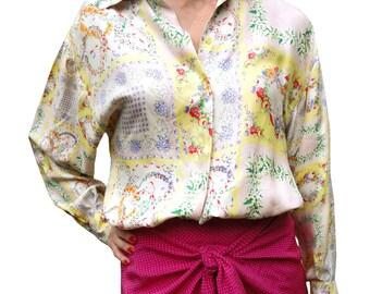 Gianni Versace versus print silk shirt