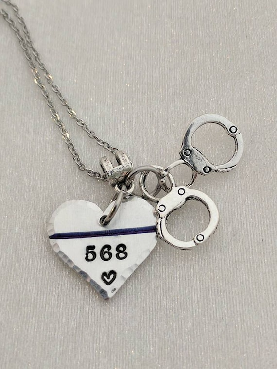 Gift for Wife - Thin Blue Line Necklace - Police Girlfriend Gift - Police Wife Necklace - Police Officer -Police Gift -Police Jewelry - Gift