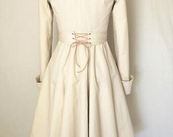 Steampunk Victorian Coat, Pirate Coat, Asymmetrical Hem, Edwardian, Regency, Wedding Coat #2