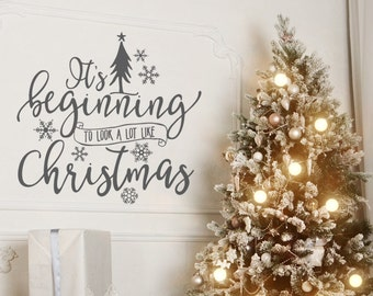 Charmant Christmas Decor   Christmas Wall Decal   Christmas Decorations   Vinyl Wall  Decal   Wall Decal
