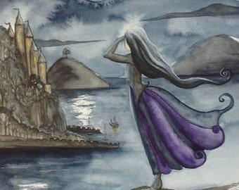Smugglers Cove Original Watercolour Painting