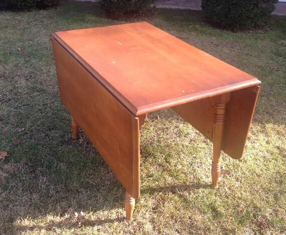vintage drop leaf table rustic farm table paint to order custom painted. Interior Design Ideas. Home Design Ideas