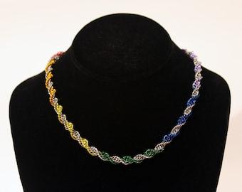 Pride Collection - Rainbow Pride Double Helix Necklace