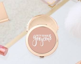 Gold Compact Mirror - Pretty Freaking Gorgeous