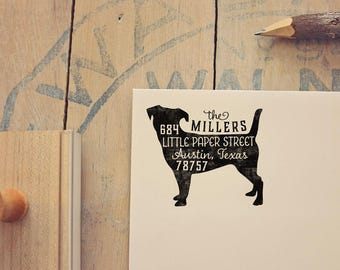 Jack Russell Terrier Address Stamp - Dog Return Address Stamp - Dog Lover Gift - Rubber Stamp - Personalized Pet Address Stamp