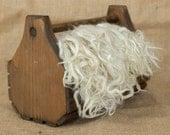 White Suri Alpaca Locks: 1 ounce (Alpha's Flower) Fiber for Felting, Spinning or Doll Hair