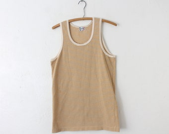 Vintage LARGE (Tight) 70s/80s Fukusuke Relaccy Club Breathable Tank Top