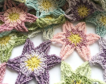 Spring is in the Air Shawl crochet pattern, pdf