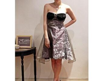 Handmade Organza Steam Punk Bodice evening prom Dress
