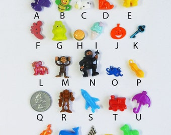 ABC trinkets AND/OR letters for I Spy, I Spy bags, sensory bins, educational games, teaching, crafts.  Boy trinkets as shown.  Set #6