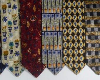Lot of 8 Ermenegildo Zegna Men's Silk Ties Multicolored Italy Sunflower Floral