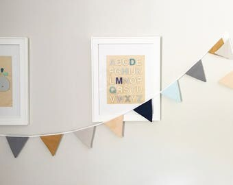 Fabric Bunting Banner / Fabric Pendant Flag / Fabric Garland