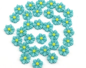 30 pieces resin cabochon flowers,11mm#FL123