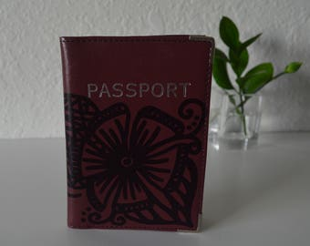 Leather Passport Cover Travel Case | Art To Wear Collection by Miami Artist Holly A. Jones