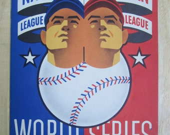 Original 1945 Chicago Cubs Wrigley Field World Series Program vs Detroit Tigers - Free Shipping