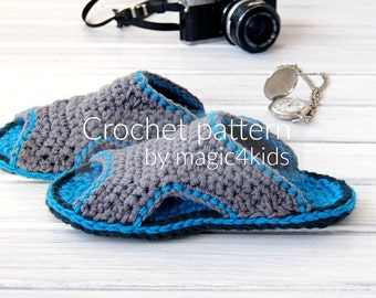 CROCHET PATTERN - men basic slippers,all sizes,clogs,adult,man,slippers,scuffs,slip ons,loafers,footwear,gift for him,home shoes,teen boy