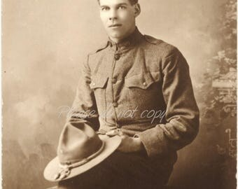 Vintage Photo ~ handsome WWI Soldier