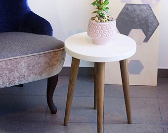 Stool Small Coffee Table Side Table Rround Table Wood Stool Scandinavian  Style End Table Lamp Table