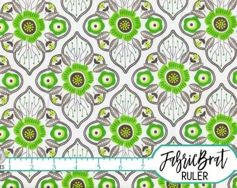 GREEN & GRAY Fabric by the Yard, Fat Quarter Fabric Large Medallion Floral Fabric Apparel Fabric Quilting Fabric 100% Cotton Fabric w7-31