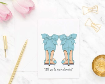 Will you be my bridesmaid card set, Cards to ask bridesmaids, Bridesmaid proposal cards, Asking bridesmaid gift, Bridesmaid heels