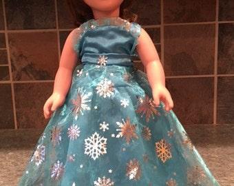 Aqua Doll Gown