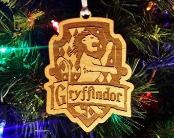 Gryffindor Ornament - Harry Potter Christmas Ornament - Holiday Decor - Gryffindor Gift - Harry Potter Gryffindor House - Hogwarts