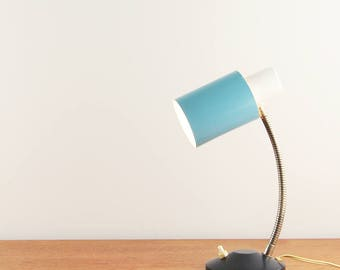 Vintage blue & white table lamp made by Hala Zeist - Made in The Netherlands - ca. 1960s