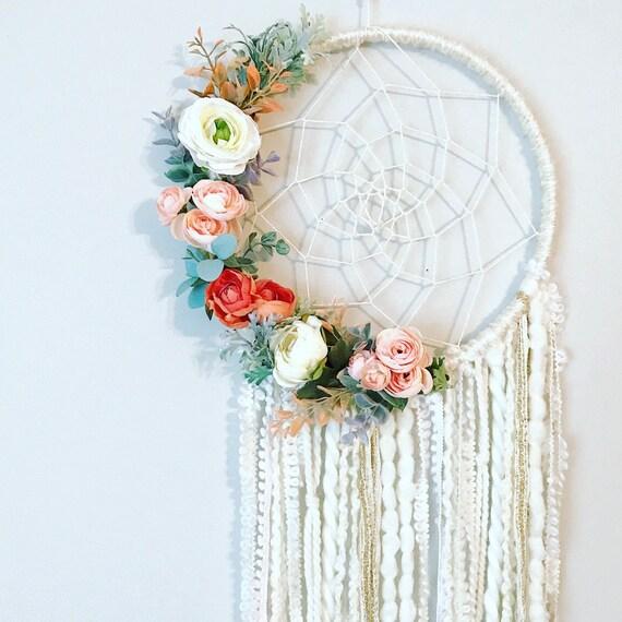 Dream Catcher Floral Dreamcatcher Dreamcatcher Wall Hanging