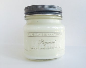 Dogwood Soy Beeswax Candle - Dye Free - Soy Candle - Clean Burning - Floral Candle - Hand Poured - Cotton Wick - Gifts For Her - Home Decor