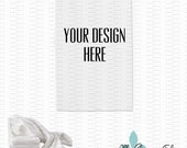 Flour Towel Mockup Photo - Blank All Purpose Flour Sack Towel / Tea Towel Mock-Up Image