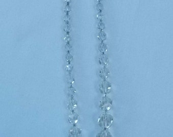 422.  Sixteen Inch Crystal Beaded Necklace