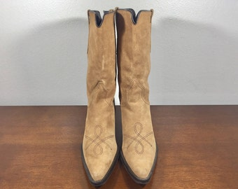 Franco Sarto, Western Boots, Women's, 6.5m, Brown Suede Leather
