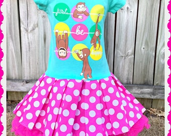 curious george dress 4T last one ready to ship