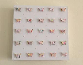 3D Pearl Butterfly Canvas