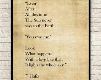 Hafiz etsy for Hafiz gedichten