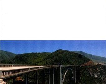 PACKAGE OF 3, Bixby Creek Arch Bridge, Big Sur, CA, High Def Greeting Card