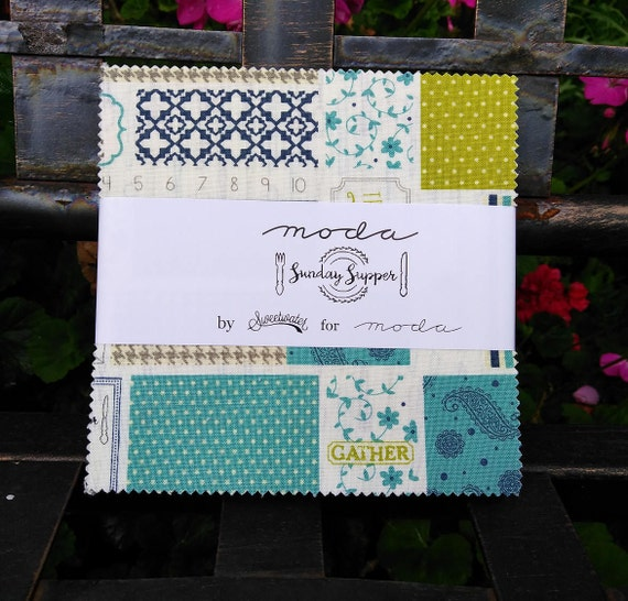 Moda Sunday Supper Fabric Charm Pack by Sweetwater, Quilt fabric ... : designer quilt fabric - Adamdwight.com