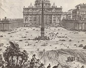 Building of the Vatican: The Papacy & Architecture by Suzanne Boorsch, Illustrated with 49 prints, 5 drawings from 15th-18th century (25690)