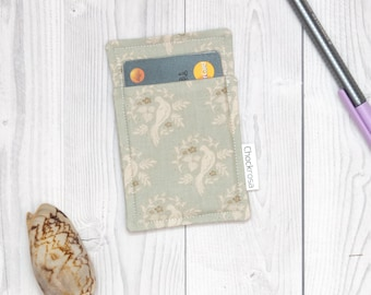 Minimalist slim card wallet birds, wallet vegan, Business card case, Thin wallet, Card case, Slim wallet, Vegan wallet, card case vegan