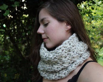 Crocheted Cowl Scarf - Choose Your Color - READY TO SHIP!