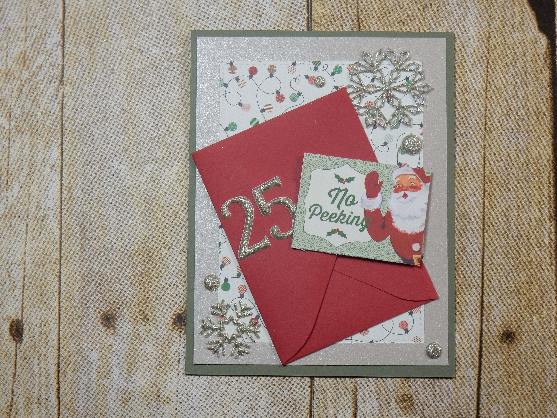Gift Card Holder Christmas Greeting Card Handmade Blank Inside