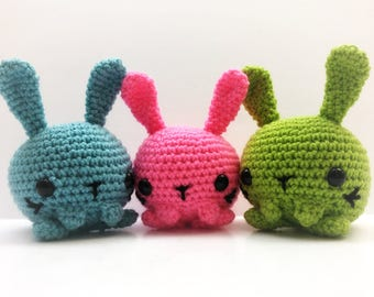 READY TO SHIP Crochet Chibi Spring Time Bunny