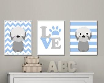 Nursery Wall Art dog nursery art | etsy