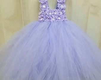 Flower girl dress - Tulle flower girl dress - Lavender Dress - Tulle dress-Infant/Toddler - Pageant dress - Princess dress - flower dress