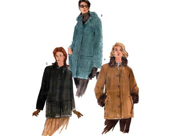 """Women's Jacket Sewing Pattern, Collar or Hood, Size Plus / Petite 20, 22, 24 Bust 42, 44, 46"""" Uncut Very Easy Vogue 7127"""
