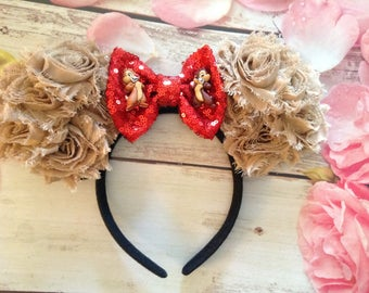 Chip and Dale Mouse Ears headband- chipmunks headband-adult headband-child headband-accessories,party headband- Halloween-costume