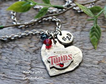 Minnesota Twins Necklace, Minnesota Twins Jewelry, Twins Baseball